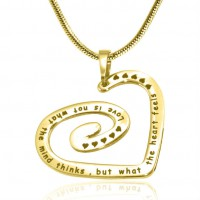 Personalised Swirls of My Heart Necklace - 18ct Gold Plated