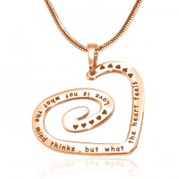 Personalised Swirls of My Heart Necklace - 18ct Rose Gold Plated