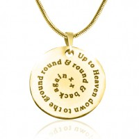 Personalised Swirls of Time Disc Necklace - 18ct Gold Plated