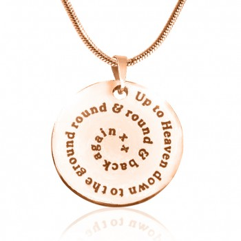 Personalised Swirls of Time Disc Necklace - 18ct Rose Gold Plated