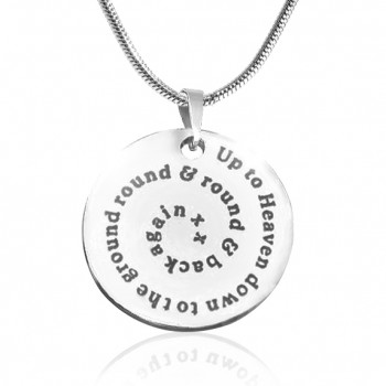 Personalised Swirls of Time Disc Necklace - Sterling Silver