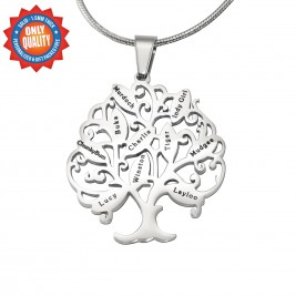 Personalised Tree of My Life Necklace 10 - Sterling Silver
