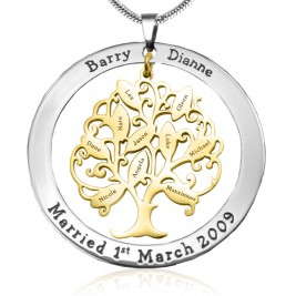 Personalised Tree of My Life Washer 10 - Two Tone - Gold Tree