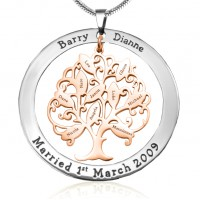 Personalised Tree of My Life Washer 10 - Two Tone - Rose Gold Tree