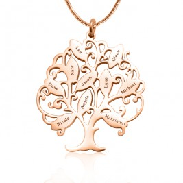 Personalised Tree of My Life Necklace 10 - 18ct Rose Gold Plated