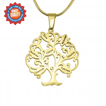 Personalised Tree of My Life Necklace 7 - 18ct Gold Plated