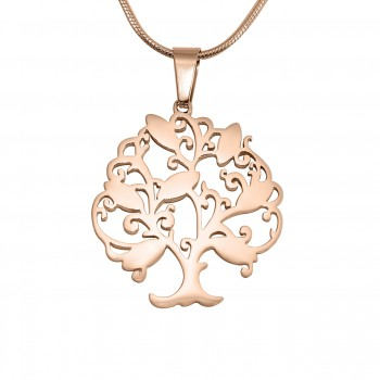 Personalised Tree of My Life Necklace 7 - 18ct Rose Gold Plated