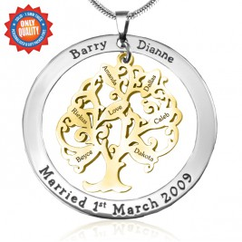 Personalised Tree of My Life Washer 7 - Two Tone - Gold Tree