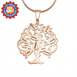 Personalised Tree of My Life Necklace 8 - 18ct Rose Gold Plated