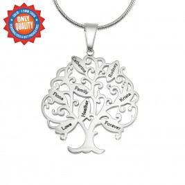 Personalised Tree of My Life Necklace 8 - Sterling Silver
