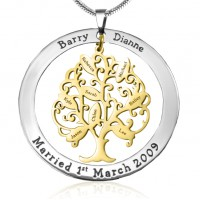Personalised Tree of My Life Washer 8 - Two Tone - Gold Tree