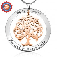 Personalised Tree of My Life Washer 9 - Two Tone - Rose Gold Tree
