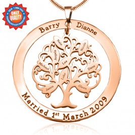 Personalised Tree of My Life Washer 9 - 18ct Rose Gold Plated