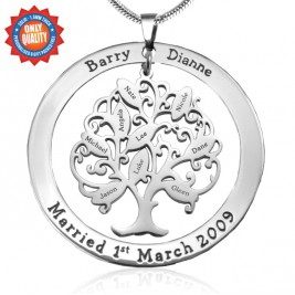 Personalised Tree of My Life Washer 9 - Sterling Silver