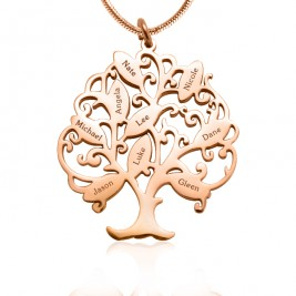 Personalised Tree of My Life Necklace 9 - 18ct Rose Gold Plated