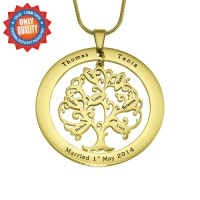 Personalised Tree of My Life Washer 7 - 18ct Gold Plated