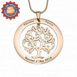 Personalised Tree of My Life Washer 7 - 18ct Rose Gold Plated