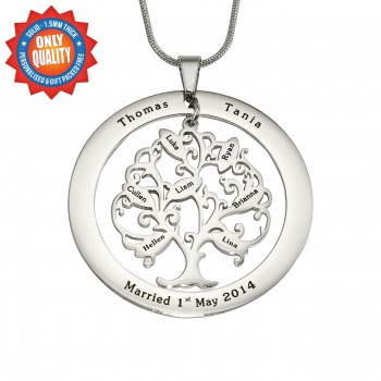 Personalised Tree of My Life Washer 7 - Sterling Silver