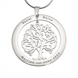 Personalised Tree of My Life Washer 8 - Sterling Silver