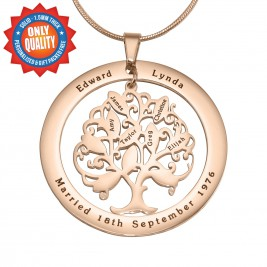 Personalised Tree of My Life Washer 10 - 18ct Rose Gold Plated