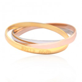 Personalised Mother Daughter Three Tone Bangle Set