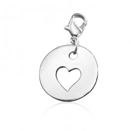 Personalised Cut Out Heart Charm