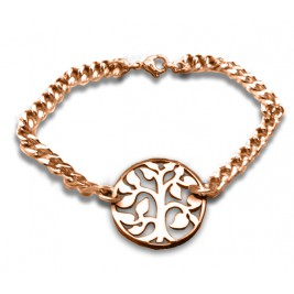 Personalised Tree Bracelet/Anklet - 18ct Rose Gold Plated