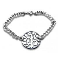 Personalised Tree Bracelet - Sterling Silver
