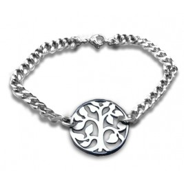 Personalised Tree Bracelet - Sterling Silver