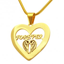 Personalised Angel in My Heart Necklace - 18ct Gold Plated