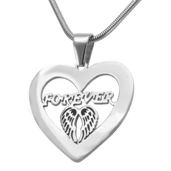 Personalised Angel in My Heart Necklace - Sterling Silver