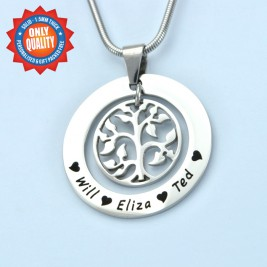 Personalised My Family Tree Necklace - Sterling Silver