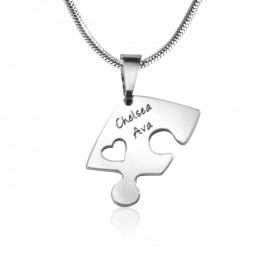 Personalised Triple Heart Puzzle - Three Personalised Necklaces