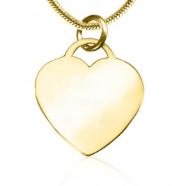 Personalised Forever in My Heart Necklace - 18ct Gold Plated