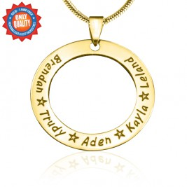 Personalised Circle of Trust Necklace - 18ct Gold Plated
