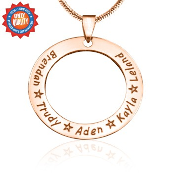 Personalised Circle of Trust Necklace - 18ct Rose Gold Plated