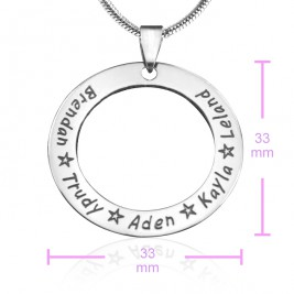 Personalised Circle of Trust Necklace - Sterling Silver