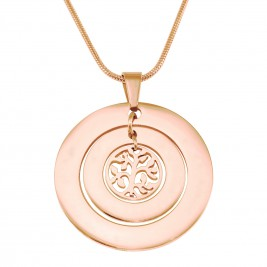 Personalised Circles of Love Necklace Tree - 18ct Rose Gold Plated