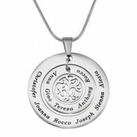 Personalised Circles of Love Necklace Tree - Silver