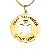 Personalised Guardian Angel Necklace 2 - 18ct Gold Plated