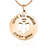 Personalised Guardian Angel Necklace 2 - 18ct Rose Gold Plated