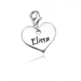 Personalised Heart Charm