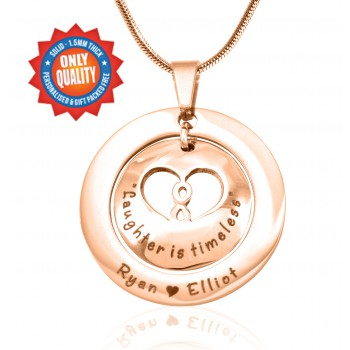 Personalised Infinity Dome Necklace - 18ct Rose Gold Plated