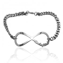 Personalised Infinity Name Bracelet/Anklet - Sterling Silver