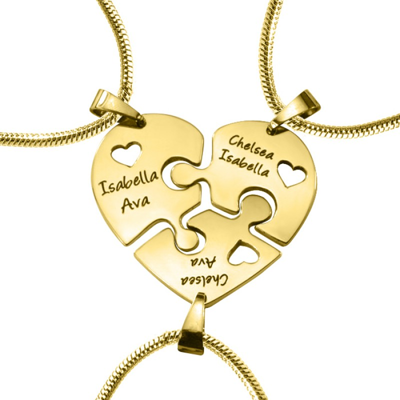 Personalised Penta Heart Puzzle Five