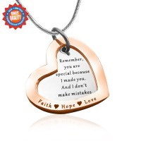 Personalised Love Forever Necklace - Two Tone - Rose Gold  Silver