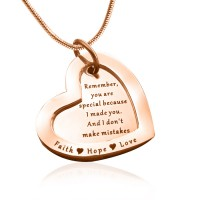 Personalised Love Forever Necklace - 18ct Rose Gold Plated