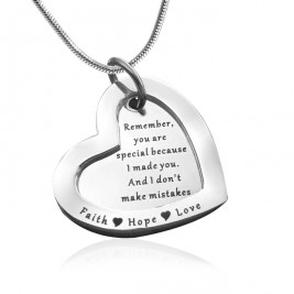 Personalised Love Forever Necklace - sterling Silver