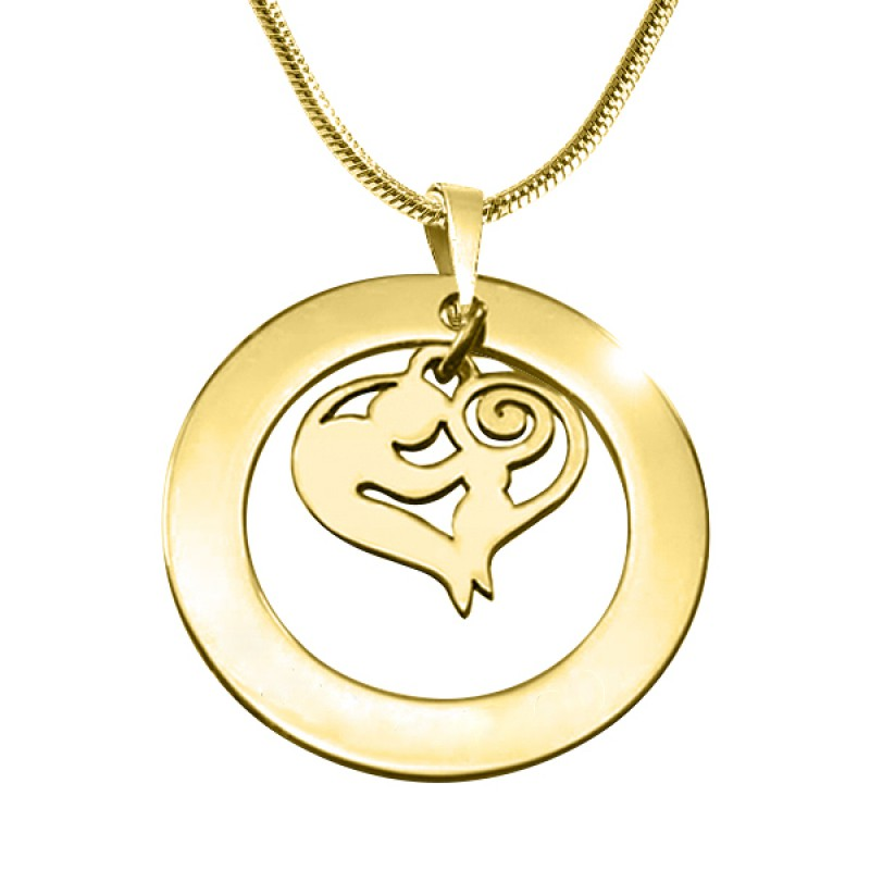 personalised mothers love necklace 18ct gold plated. Black Bedroom Furniture Sets. Home Design Ideas