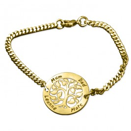 Personalised My Tree Bracelet - 18ct Gold Plated